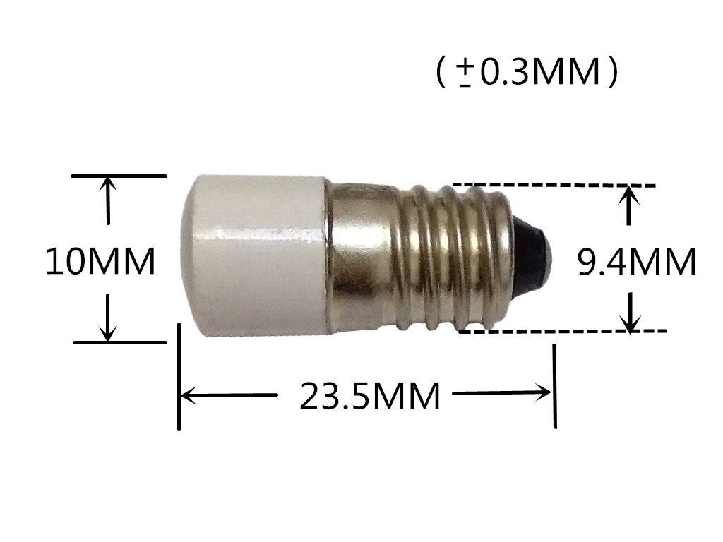 5 шт. E10 индикаторная лампа коробкой многопозиционного переключателя лампы E10 лампочка для инструмента E10 6,3 V 12V 24V 36V E10 светодиодный 110V E10 свет...