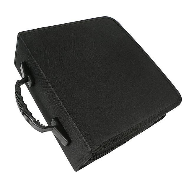 1pc 320 דיסקים CD ארנק עור מפוצל נייד Dustproof גדול קיבולת CD קלסר CD מקרה תקליטור אחסון מחזיק DVD מחזיק