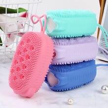 Двусторонние Мягкие силиконовые щетки для ванны массажные перчатки