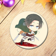 100 Styles Anime Attack On Titan Display Badge Cartoon Figure Eren Levi Cosplay Backpacks Button Clothes Brooches Pin Collection(China)