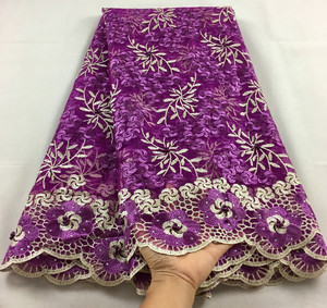Image 5 - Nigerian Lace Fabric 2020 High Quality Lace Beaded Lace Fabric Wedding Pink African With Beads Nigerian French Lace Fabric LHX07