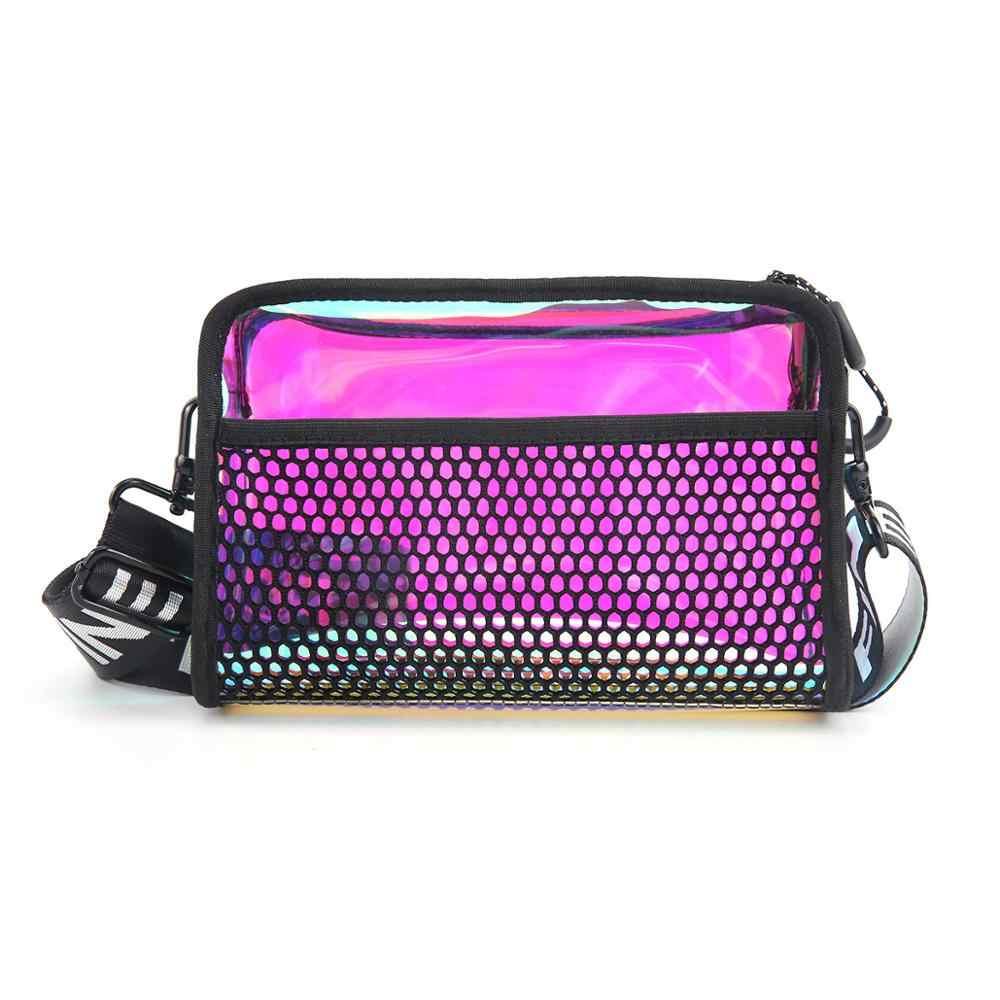 Женская сумка , лазерная прозрачная сумка через плечо, большая модная сумка , Женская поясная сумка , многофункциональная сумка через плечо, сумочка