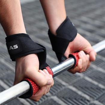 MKAS Weight lifting Wrist Straps Fitness Bodybuilding Training Gym CrossFit lifting straps with Non Slip Flex Gel Grip 3