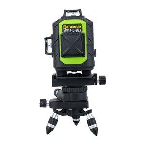 Image 5 - فوكودا مستوى الليزر 16 خط شعاع أخضر 4D التسوية الذاتية 360 درجة الروتاري الأفقي والرأسي الأخضر 12 خطوط متقاطعة مستوى الليزر