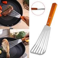 Cozinha antiderrapante aço inoxidável frigideira espátula pá gotejante peixe fatia utensílios de cozinha