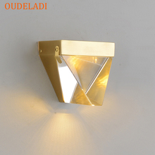 Modern Led Crystal Wall lamps Lights Fixture for Living Room Bedroom Hallway Home Lighting Decoration Lamps Luminaire Stairs