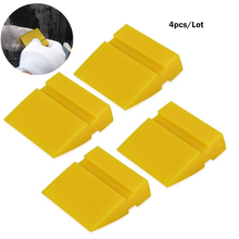FOSHIO 4PCS 5cm Silicone Squeegee Vinyl Car Wrap Rubber Blade Window Tint Cleaning Tool Water Snow Ice Scraper Sticker Remover