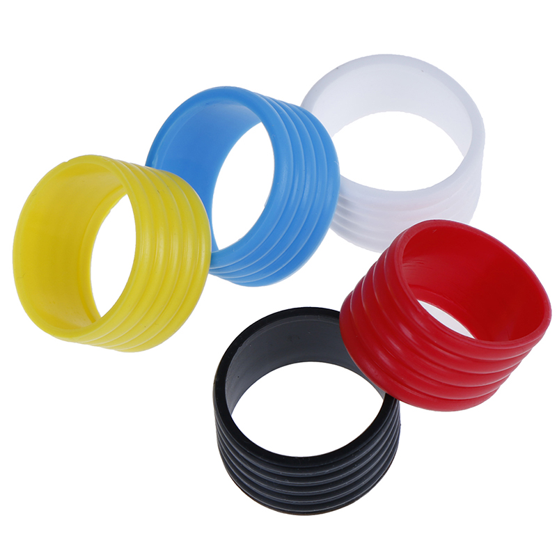 4pcs Rubber Tennis Racket Handle Rubber Ring Stretchy Tennis Racket Handle's Rubber Ring Tennis Racquet Band Overgrips