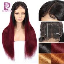 Парики из натуральных волос на кружевной основе, 4x4, парики из натуральных волос