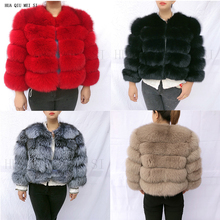 20 Natural fur women's winter jacket fox fur coat fur coat fur natural jacket quality natural fox fur jacket real fox fur coats