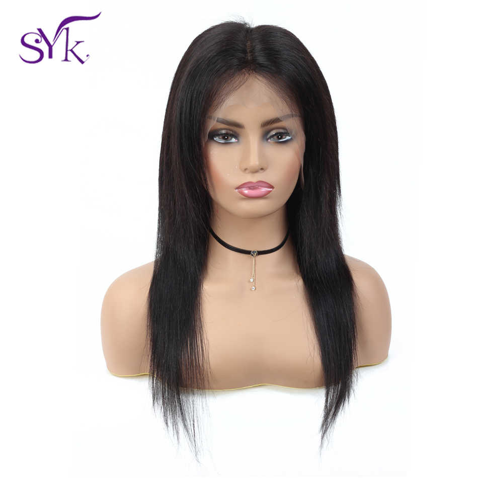 "SYK Brazilian Straight Lace Front Human Hair Wigs 13*4 150% Density 10""-22"" 100% Remy Human Hair Lace Front Wigs For Women"