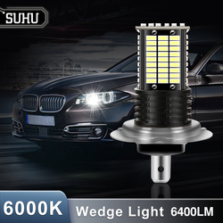 SUHU 2Pcs H7 110W LED Car Headlight Front Bulb Super Bright White Beam 6000K 6400LM 12V 24V Car Modeling Headlamp Fog Lights Kit