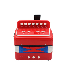 2019 New 7 Button 2 Bass Accordion Mini Accordion Educational Instrument Rhythm Band Toy Children's Educational Gift 10 Color цена в Москве и Питере