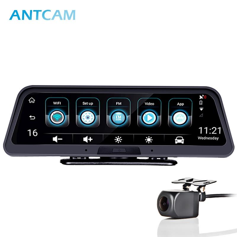 "Antcam 10"" IPS 4G Android Smart Dash Cam GPS Navigation ADAS FHD 1080P Car video Camera Recorder WiFi Live Remote monitoring DVR"