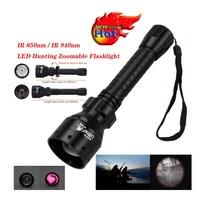 T50 LED Flashlight Long Range Infrared 10W IR 850nm Hunting Light Night Vision Torch 18650 Rechargeable Torch Oct#2