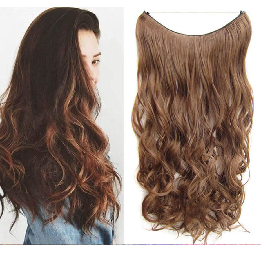 WEILAI Long Wavy Women Hairstyle In Hair Extension Heat Resistant Synthetic False Hair Pieces Headwear