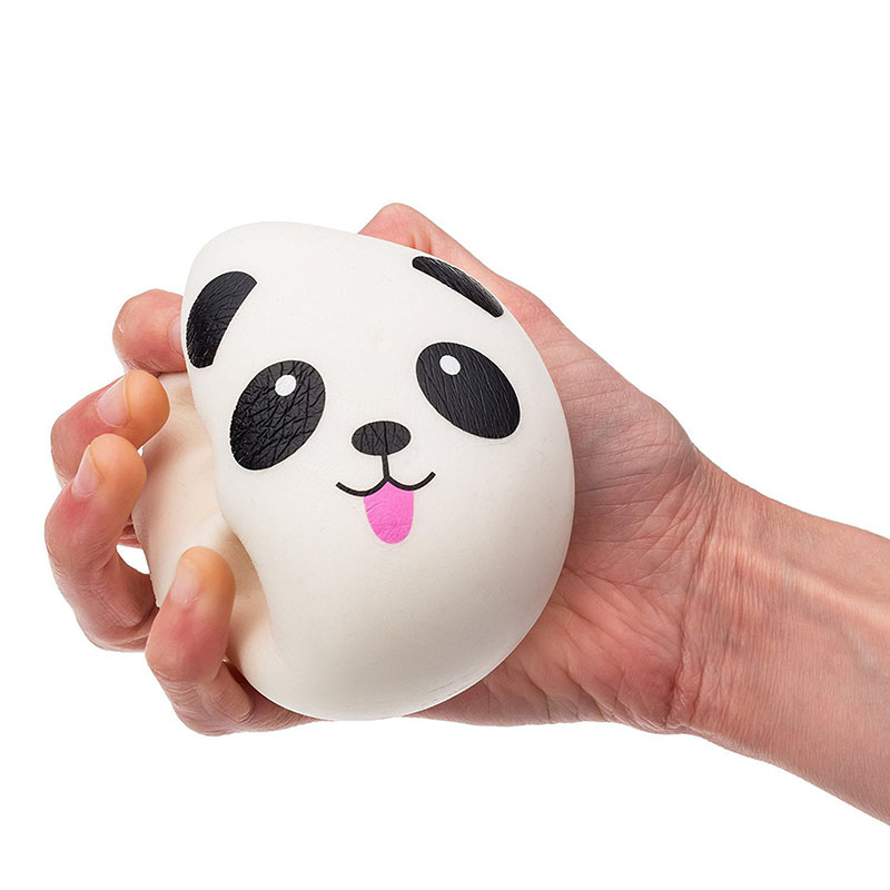 4/7/10 cm Soft Squishy Slow Rising Jumbo Panda Squeeze Kid Stress Reliever Decor Squishy Charm Gift Panda Key Chain Slow Rebound