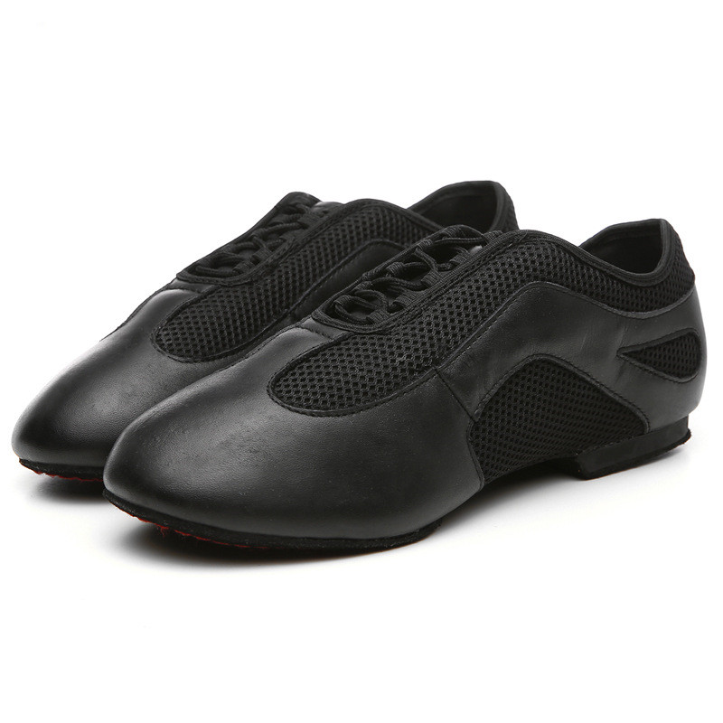 Soft Ballet Slipper Nude/Black Leather Ballet Shoes
