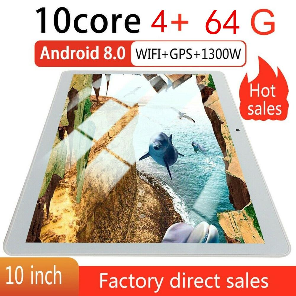 10  inch Tablet PC 4 64GB Android 8.0 Dual SIM Dual Camera GPS Wi Fi Phablet New Android Tablet Pad From Factory