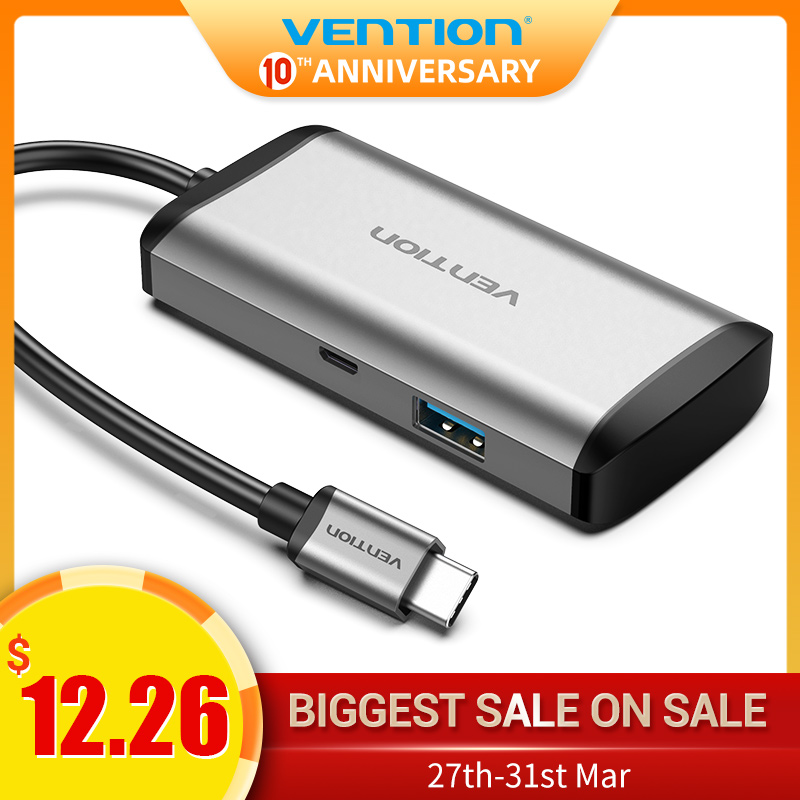 Vention USB Hub 3.0 Type C Hub Usb C Splitter High Speed Adapter For MacBook Pro Huawei Mate 30 USB-C Splitter Multi Usb3.1 Port