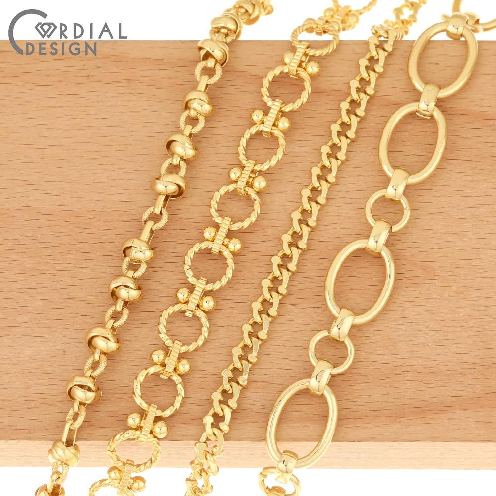 Design cordial corrente de cobre/joias achados & componentes/feito à mão/diy colar correntes/jóias acessórios/correntes para pulseiras