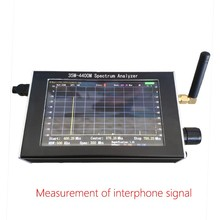 Free shipping  35M 4.4GHz Sweep Simple Spectrum Analyzer Signal Generator  + 4.3 inch LCD +Metal Case
