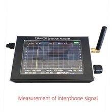 Frete grátis 35m 4.4ghz varredura simples espectro analisador gerador de sinal + 4.3 polegada lcd + caixa de metal