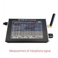 Spedizione gratuita 35M 4.4GHz Sweep semplice analizzatore di spettro generatore di segnale custodia in metallo LCD da 4.3 pollici
