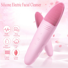Face Cleaning Mini Electric Facial Massage Brush Face Washing Machine Waterproof Silicone Face Cleansing Tools portable facial cleaning brush mini electric massage washing face machine deep cleansing waterproof silicone cleansing tool