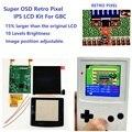 Супер OSD версия ретро пиксель IPS ЖК-экран комплект подсветка яркость для GameBoy цвет для GBC IPS ЖК-комплект