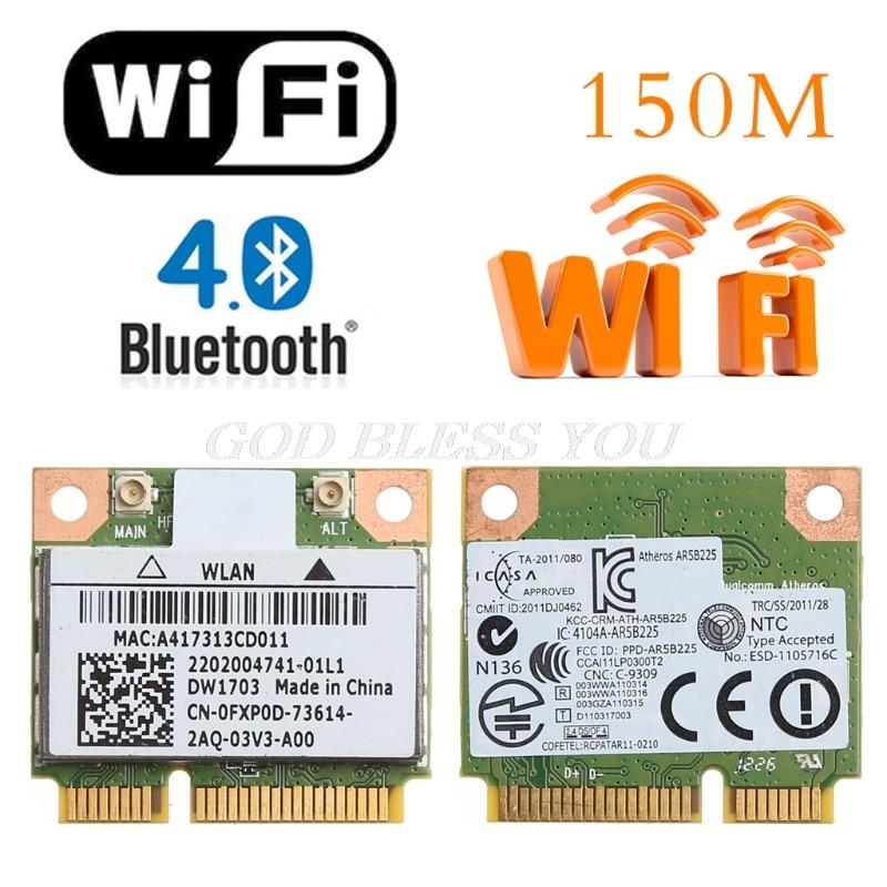 Bluetooth V4.0 Wireless Mini PCI-Express Card For Atheros AR5B225 DELL DW1703
