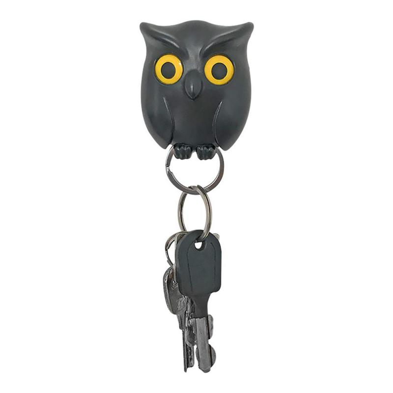 Self-Adhesive Owl Animal Wall Sticker Magnet Hooks Key Holder Keychains Key Hanger Storage Rack Shelf Hook Home Decorative Hooks
