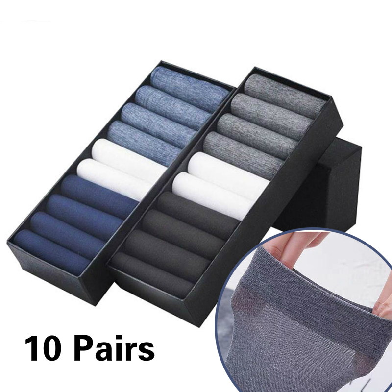 Men Summer Socks UTRA-THIN Man Coolest Casual Socks Breathable Bamboo Male CREW Socks  Meias  Cool Ultra Thin Stockings
