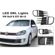 цена на White LED Daytime Running Lights For VW Golf VI GTI 2009-2012