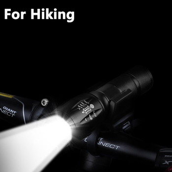Z45 Led Flashlight Ultra Bright Waterproof MINI Torch T6/L2/V6 zoomable 5 Modes 18650 rechargeable Battery for camping tactical 6