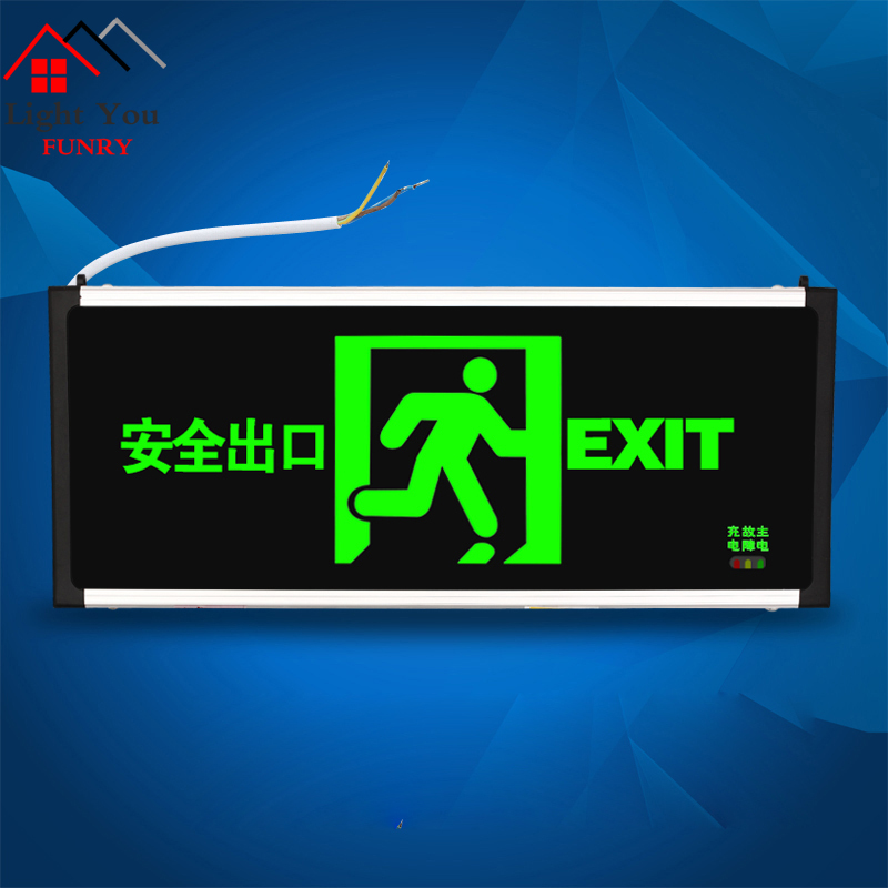 New National Standard Safety Exit Sign Led Fire Emergency Light Emergency Passage Evacuation Sign Light