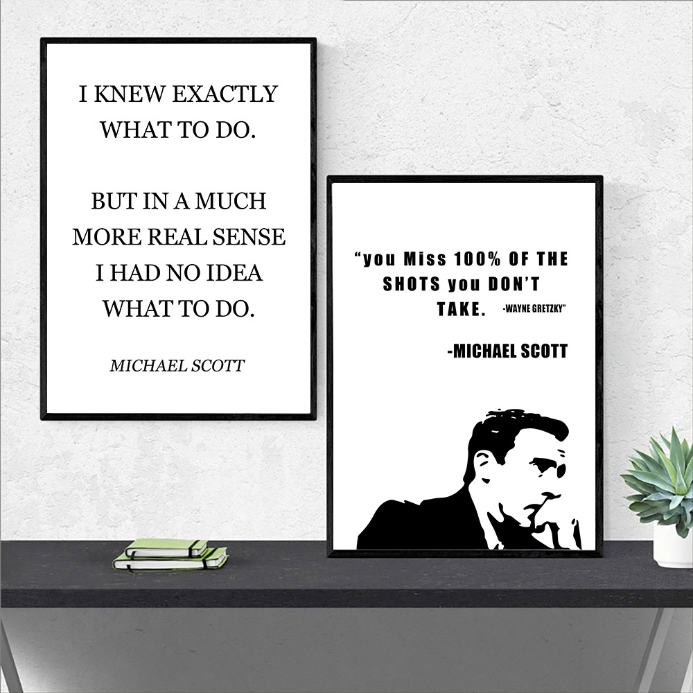 The Office TV Show Art Canvas Poster Painting Minimalist Poster Michael Scott Quotes Posters And Prints Wall Pictures Home Decor image