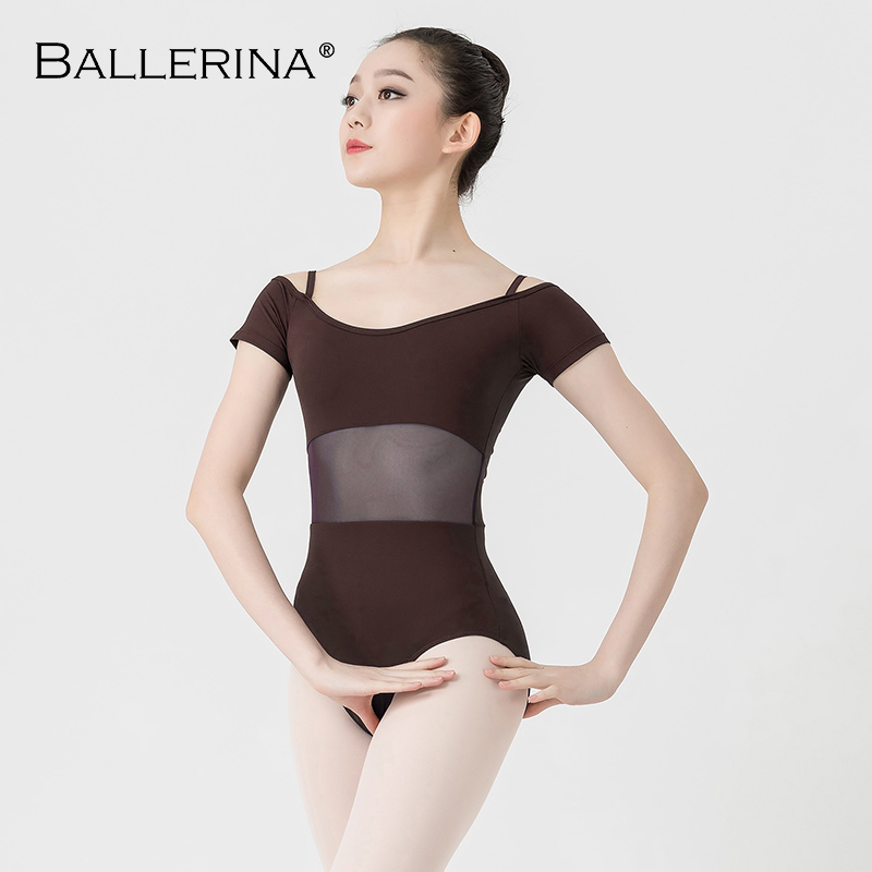 Image 3 - ballet dance Practice short sleeve leotard women Dance Costume gymnastics Sling mesh Leotards Adulto Ballerina 3541-in Ballet from Novelty & Special Use