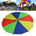 Уличный Радужный Зонт диаметром 2 м/3 м, Парашютная игрушка, прыгающий мешок, баллют, игра в команду, игрушка для детей, подарок
