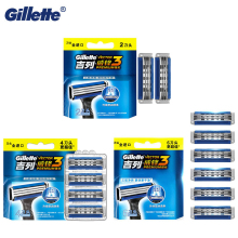 Original Gillette Vector 3 PREMIUM Shaving Razor Blades 3 Layer Stainless Blades For Men Face Care Safety Smoothing Shaving