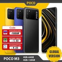 POCO-teléfono inteligente M3 versión Global, 4GB y 64GB/128GB, Snapdragon 662, ocho núcleos, Triple CÁMARA DE 48MP, pantalla FHD de 6,53 pulgadas, batería de 6000mAh
