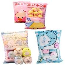 Çeşitli türleri bir çanta Sumikko Gurashi ve Hamster ve domuz tavşan ve ördek ve kediler ve balina peluş yastık yumuşak karikatür hayvan bebek çocuk hediye