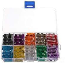 Kit surtido de fusibles de cuchilla de coche, Kit surtido de fusibles estándar para camión, barco, SUV, 2, 3, 5, 100, 10, 15, 20, 25, 30, 35 A, 7,5 Uds.