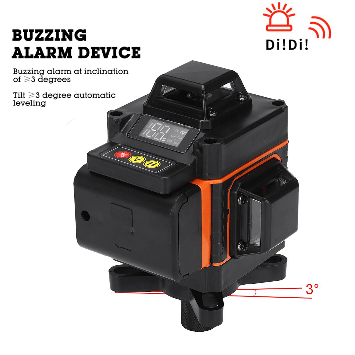 4D 16 Lines Laser Level Green Light LED Display Auto Self Leveling 360     Rotary Measure Horizontal Vertical Cross Remote Control