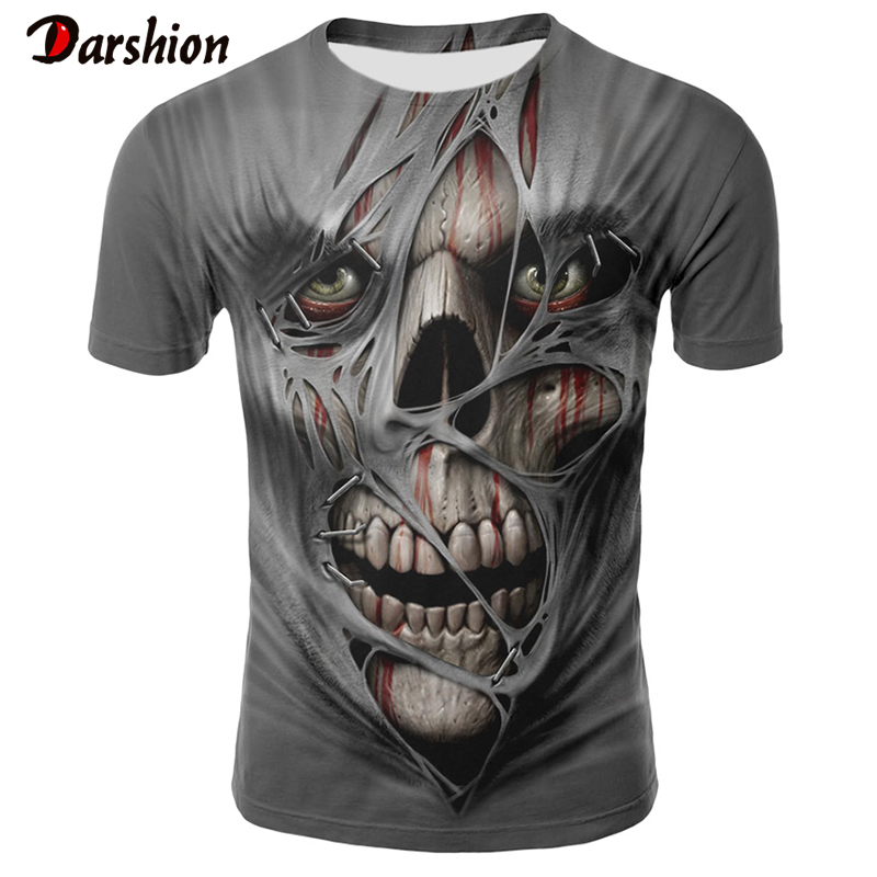 Men's 3D Print T-shirt Darkness T-shirt Fashion Men's Short Sleeve Summer New Top For Male Tshirt Popular Tees And Tops