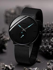 Crrju модные мужские часы Топ бренд класса люкс кварцевые часы мужские повседневные тонкие сетчатые стальные водонепроницаемые спортивные ...