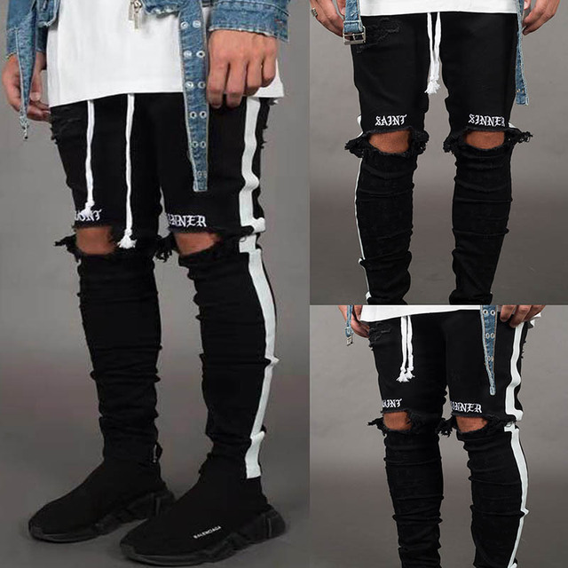 April MOMO Men Stylish Ripped Jeans 1