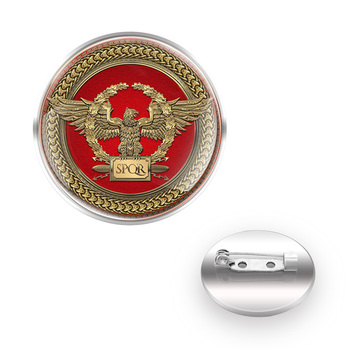 Coat Of Arms Of The Ancient Roman Empire SPQR брошь Brooches Collar Pin Glass Convex Dome брошь зажим Accessories Gift image