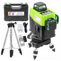 KaiTian 3D 12 Lines Laser Level Tripod Horizontal And Vertical Line Work Separately Self-Leveling Green Laser Beam Lines 3D Tool