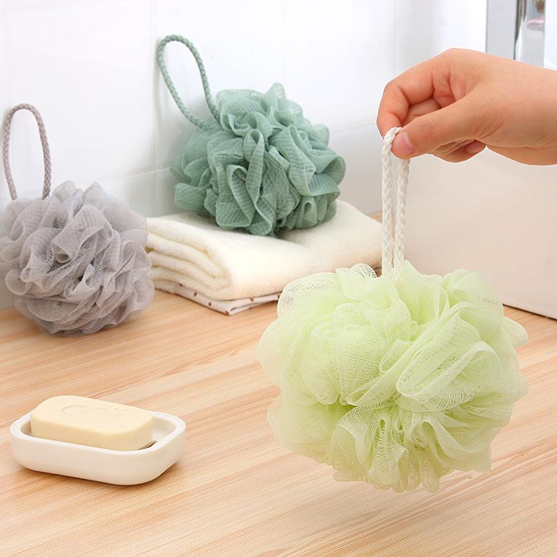 1Pcs Plain super soft Bath Ball Bathsite Baths Cool Ball Bath Towel Scrubber Body Cleaning Mesh Shower Wash Sponge Product